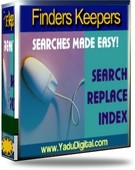 Finders Keepers search and replace